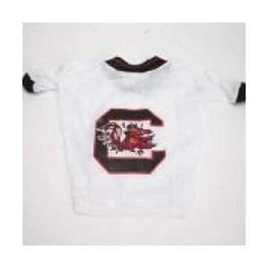 South Carolina Gamecocks White Dog Jersey Sports