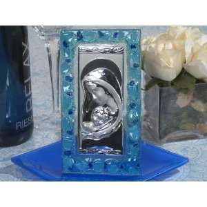 Murano Art Deco Icon with Blue glass accents