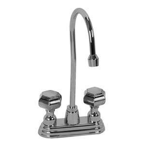BAR 2365PG PG Polished Gold Bathroom Sink Faucets 4 Centerset Bar