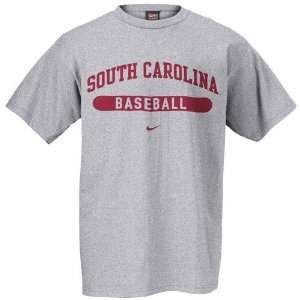 Nike South Carolina Gamecocks Ash Baseball T shirt