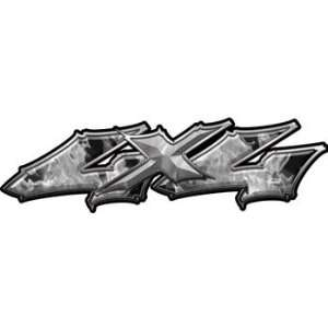 Wicked Series 4x4 Truck Bed Side Decals Inferno Gray