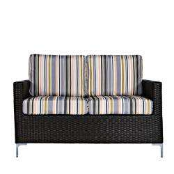 angeloHOME Napa Springs Newport Stripe 4 Piece Indoor/Outdoor Wicker