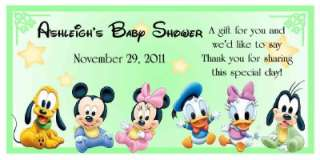 BABIES Mickey Minnie BABY SHOWER FAVORS WATER BOTTLE LABELS