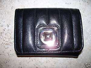 LADIES BUXTON BLACK LEATHER CARD CASE JOTTER WALLET NWT