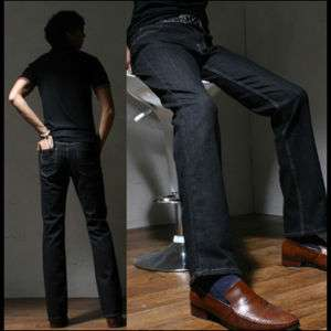 Mans Slim Boot Cut Jeans Denim 28 30 32 34 NWT(G6097) 076783016996