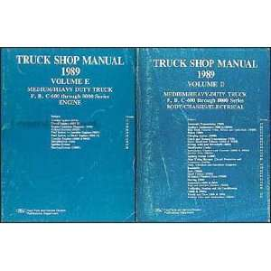 600 8000 Medium and Heavy Truck Repair Shop Manual Set Ford Books