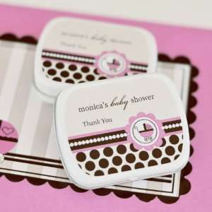 Pink Baby Carriage Mint Tin Favors