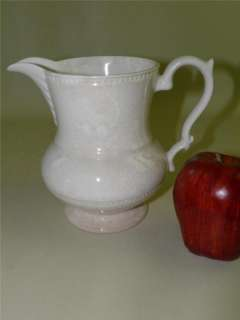 ANTIQUE BARRINGTON IRONSTONE WHITE PITCHER ENGLAND
