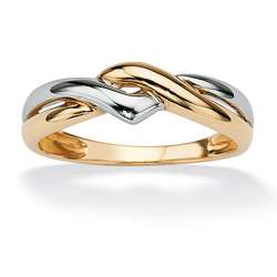 Toscana Collection 10k Two tone Gold Twist Ring
