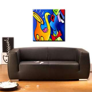 MODERN ABSTRACT Contemporary Sax JAZZ PAINTING ORIGINAL FINE ART by