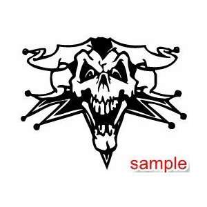 EVIL AND SKULLS JOKER SKULL 10 WHITE VINYL DECAL STICKER