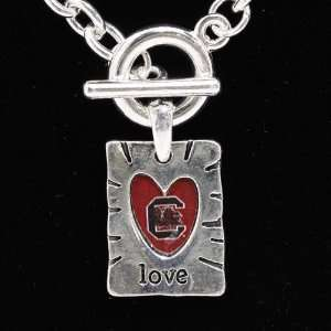 NCAA South Carolina Gamecocks Team Color Love Necklace