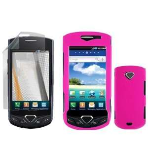 iNcido Brand Samsung Gem i100 Combo Rubber Hot Pink Protective Case