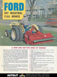 1963 Ford 2000 Tractor & 907 Mower Brochure
