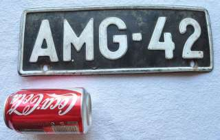 1960s Finland Vintage Car Auto License Plate Pair AMG 42