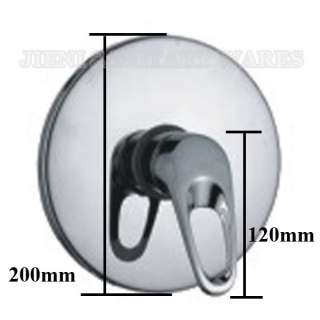 Wall mount shower mixer faucet control valve trim 5507M