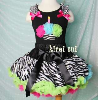 Pettiskirt Hot Pink Blue Green Cupcake Tank Top Birthday Dress 1 7