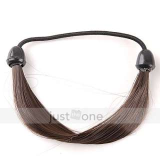 Lady Girl Synthetic Hair Ponytail Holders Elastic Tie Ring