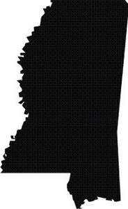 Mississippi State Outline Silhouette Vinyl Decal Sticker