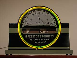 Neon Advertising Clock Art Deco Machine Age RX Old Eames 1930s