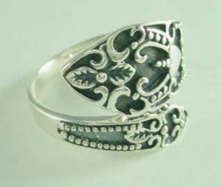 Fashionable Sterling Silver Spoon Style Ring Sz 6 9   New