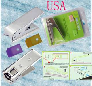 Genuine Noosy Micro Sim Card Cutter + 2 Convert Adapter
