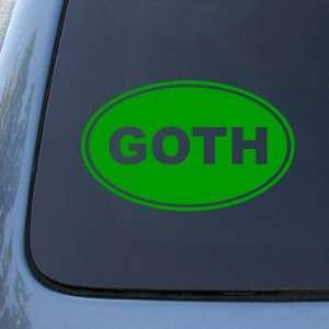 GOTH EURO OVAL   Gothic   Vinyl Car Decal Sticker #1712  Vinyl Color
