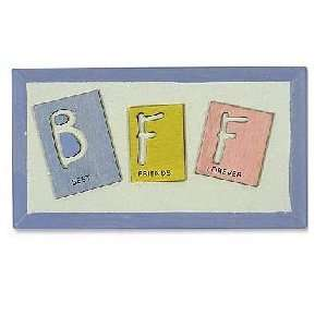 BFF (Best Friends Forever) Wood Text Sign Plaque