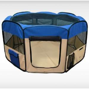 Blue 45 Pet Puppy Dog Playpen Exercise Pen Kennel 600d