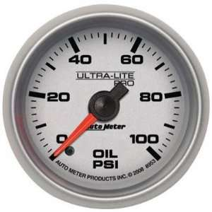 Lite Pro 2 1/16 0 100 PSI Full Sweep Electric Oil Pressure Gauge
