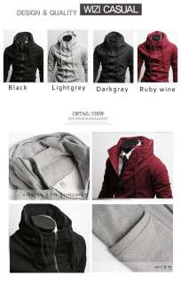 Stylish Slim Fit Mens Jackets Coats 4 Colours US size XS,S,M,L