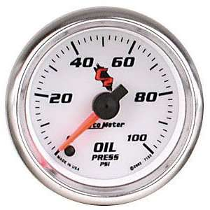 Auto Meter 7153 C2 2 1/16 0 100 PSI Full Sweep Electric Oil Pressure