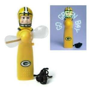 Green Bay Packers Light Up Personal Handheld Fan Kitchen
