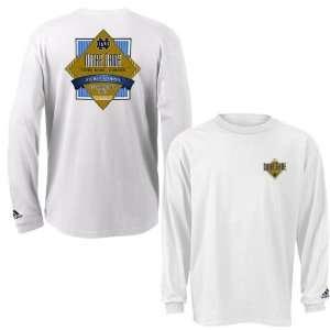 Adidas Notre Dame Fighting Irish White Diamond Force Long Sleeve T