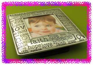 BRIGHTON Silver KEYNOTE PEACE Picture Frame NWTag