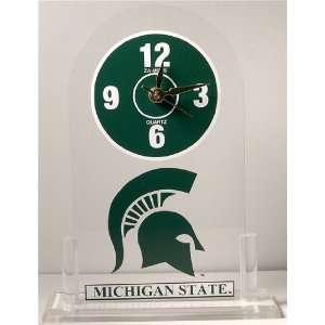NCAA Michigan State Spartans Desk Clock
