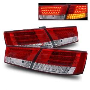 06 10 Hyundai Sonata LED Tail Lights   Red Clear
