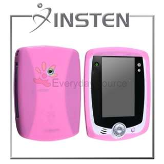 Pink Gel Skin Case Cover+Screen Protector For LeapPad Tablet