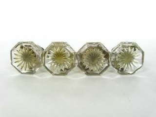 Vintage Crystal Glass Drawer Knobs Pulls