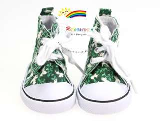 American Girl Shoes Cons Canvas Sneakers Birds Green