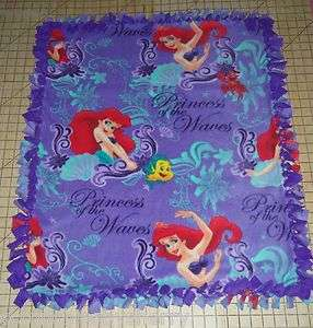 Disney Princess Waves Little Mermaid & Flounder Fleece Baby Pet Lap