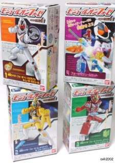 Rider Fourze Module Change Candy Toy Action Figure Set of 4