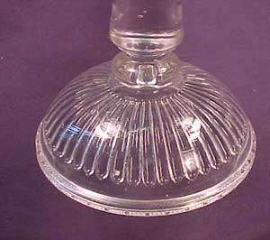 Good Luck or Horseshoe Pattern Glass Cake Stand