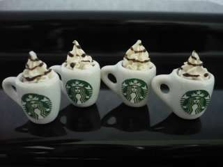 of Starbucks Cappuccino Dollhouse Miniatures Food Supply Deco