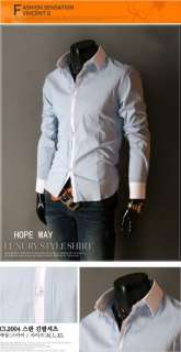 2012 New Mens Luxury Stylish Casual Dress Slim Fit Shirts 5 Colours 4
