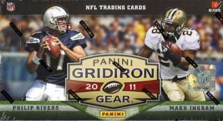 2011 PANINI GRIDIRON GEAR FOOTBALL BOX HOBBY