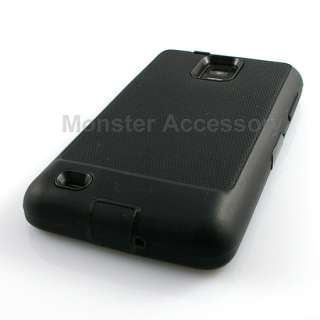 Black Double Layer Hard Case Cover Samsung Infuse 4G