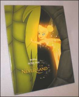 Disney Peter Pan Return to Neverland Lithograph w Cover