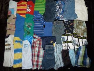 Size 3T 4T Boy Toddler Clothes Clothing Lot Jeans Shirts 30 Pieces