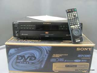 Sony DVP C600D CD DVD 5 Disc Changer Player Audio w/Remote